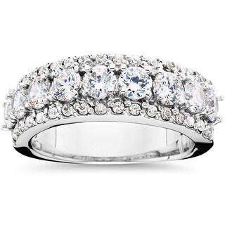 Bliss 14k White Gold 2 1/10ct TDW Diamond Anniversary Ring (G-H, I1-I2)