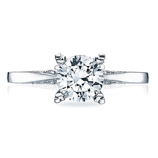 Tacori 18k White Gold Diamond Semi Mount Solitaire Engagement Ring