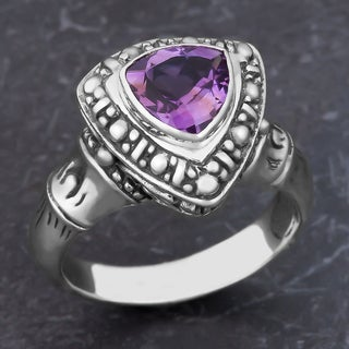 Sterling Silver Amethyst Cawi Ring (Indonesia)