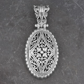 Sterling Silver 'Balinese Art' Cawi Pendant (Indonesia)