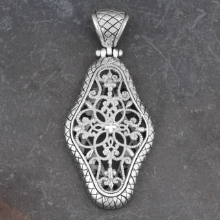 Sterling Silver Floral Cawi Pendant (Indonesia)