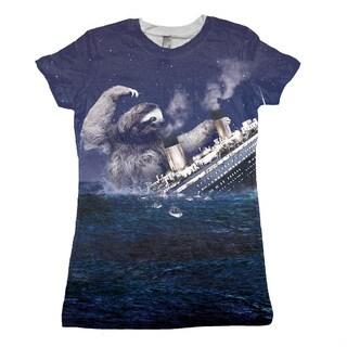 Women's Sloth Titanic Short-sleeve Top