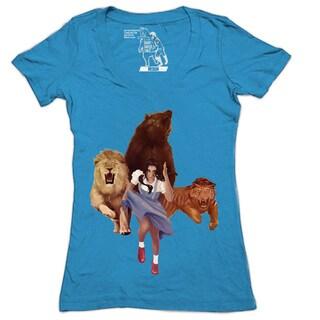 Women's Lion Tiger Bear V-neck T-shirt