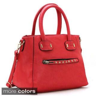 Chasse Wells Visage Heureux Satchel Faux Leather Tote Handbag