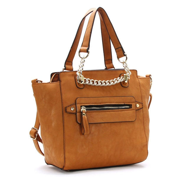 Chacal Taylor Maillon De Chaine Faux Leather Tote Handbag