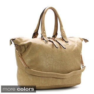 Chacal Taylor Jamais Plein Overnight Faux Leather Tote Handbag