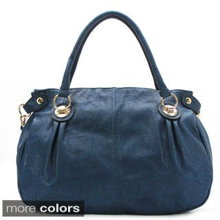Chacal Taylor Levres Bleues Faux Leather Tote Handbag