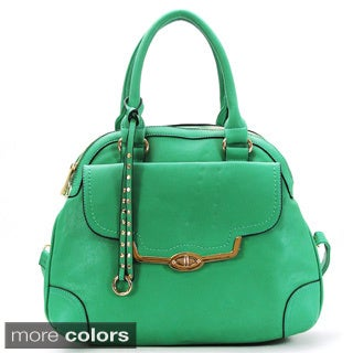 Chasse Wells Dual Aile D'ange Faux Leather Satchel Handbag