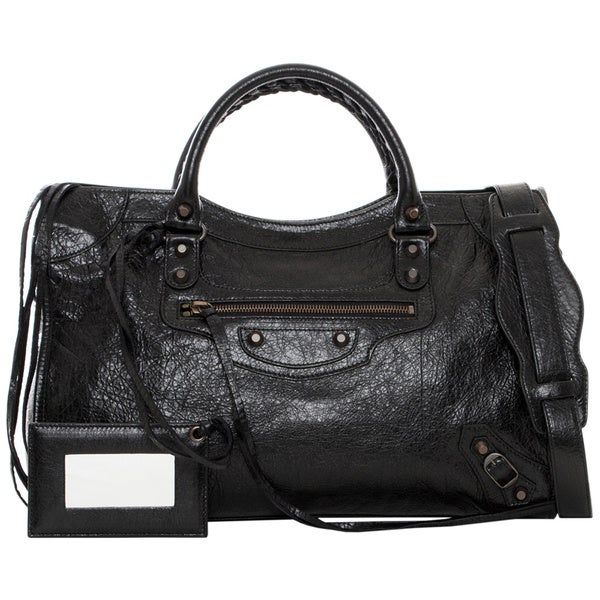 Balenciaga 'Classic City' Medium Black Leather Satchel