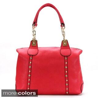 Chasse Wells Boston Riviere Shoulder Faux Leather Satchel Handbag
