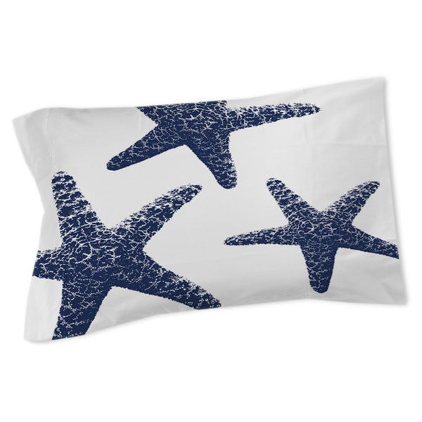 Thumbprintz Nautical Nonsense Blue White Starfish Sham