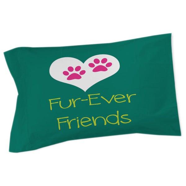 Thumbprintz Forever Friends Teal Sham