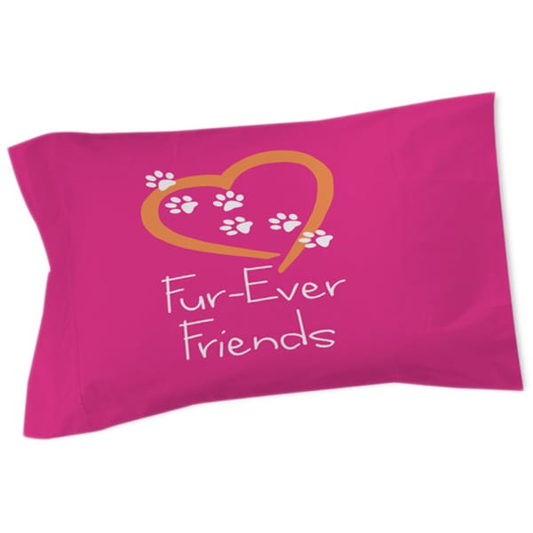 Thumbprintz Forever Friends Pink Sham