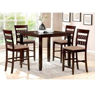Baxton Studio Seville Brown Modern 5-piece Counter Set
