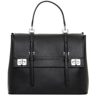 Prada 'Cuir' Black Saffiano Leather Satchel