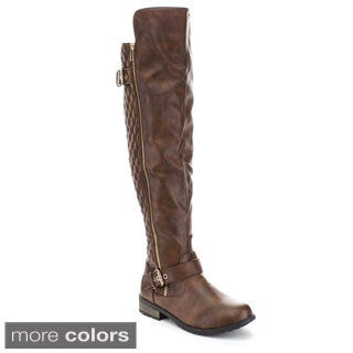 Forever Women's 'Mango-41' Knee-high Quilted Boots