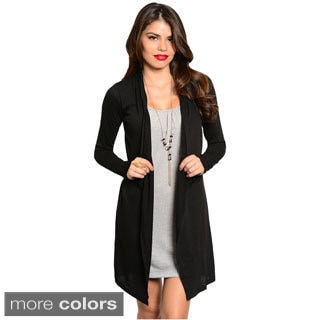 Feellib Women's Long Sleeve Two-Piece Dress With Open Front Cardigan Design