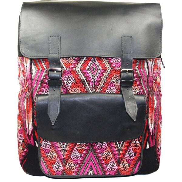 Leather Mayan Backpack (Guatemala)