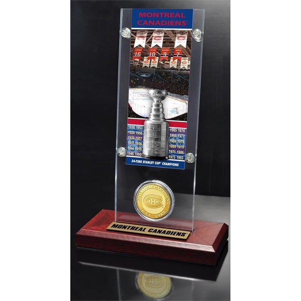 NHL Montreal Canadiens Montreal Canadiens 24x Stanley Cup Champions Ticket and Bronze Coin Acrylic Display 14236256