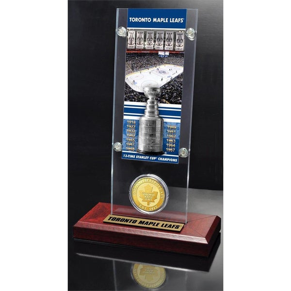 NHL Toronto Maple Leafs Toronto Maple Leafs 13x Stanley Cup Champions Ticket and Bronze Coin Acrylic Display 14236264