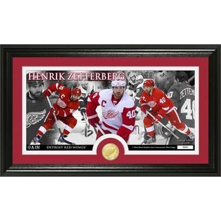 NHL Detroit Red Wings Henrik Zetterberg Bronze Coin Pano Photo Mint