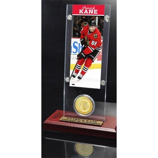 NHL Chicago Blackhawks Patrick Kane Ticket and Bronze Coin Desktop Acrylic Display