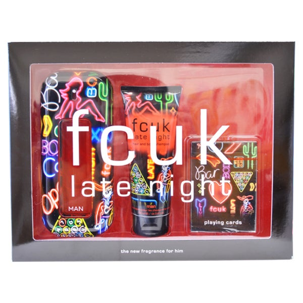 French Connection UK FCUK Late Night Men's 3-piece Fragrance Set