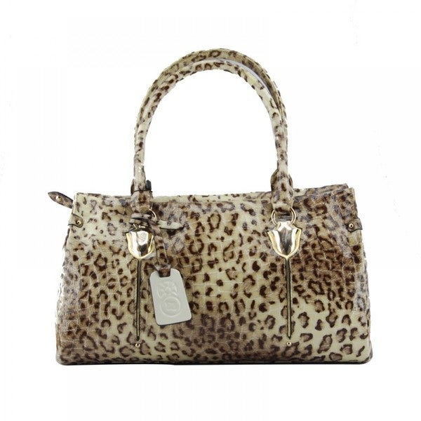 Eastide Leopard Pattern Leather Shoulder Bag