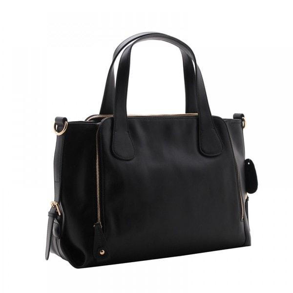 Eastide Calfskin Leather Shoulder Bag