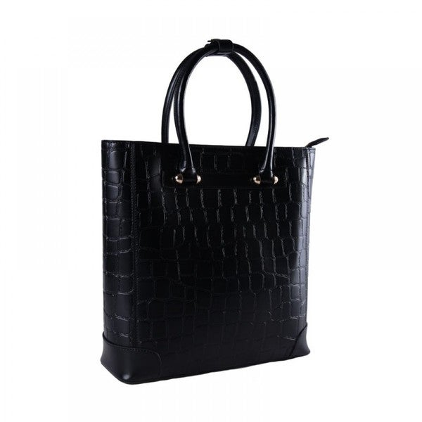 Eastide Crocodile Pattern Leather Shoulder Bag