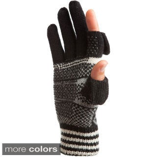 Freehands Hearts and Stripes Wool Blend Texting Glove