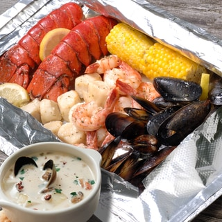 Maine Shore Dinner and Clam Chowder Bundle (Serves 2)