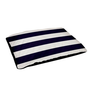 30x40-inch Outdoor Black/ Navy/ White Stripe Geometric Dog Bed