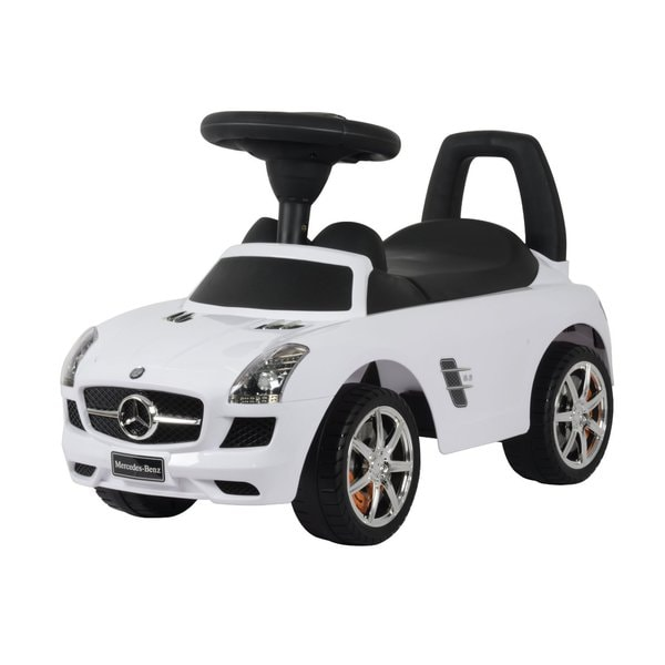 Best Ride On Cars White Mercedes SLS AMG Push Car