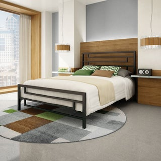 Amisco Temple 54-inch Full-size Metal Headboard and Footboard