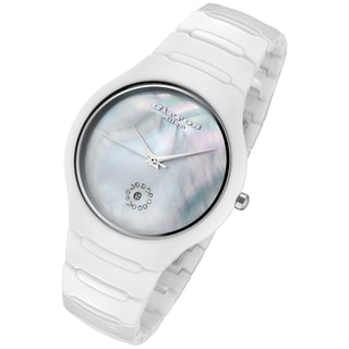 Cirros Milan Women's Luxury White Ceramic Watch