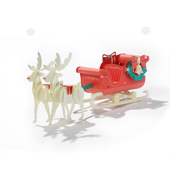 Papero Red Rudolph Sled Assemblage Model Kit