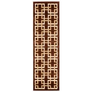 Rug Squared Carlsbad Brown Rug (2'2 x 7'3)