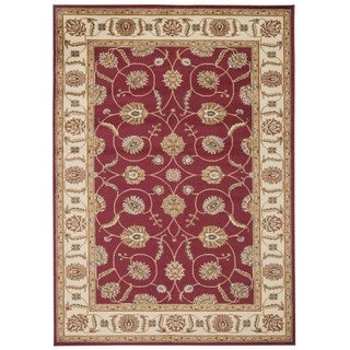 """Rug Squared Mariposa Red Rug (5'3"""" x 7'3)"""