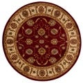 Rug Squared Mariposa Red Round Rug (5'3 x 5'3)