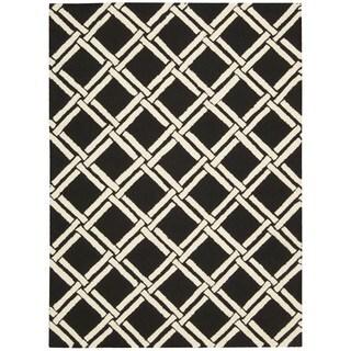 Rug Squared Laredo Black/ White Rug (7'6 x 9'6)