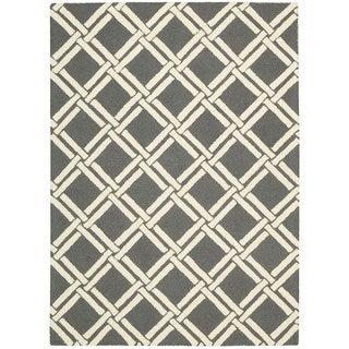 Rug Squared Laredo Grey/ Ivory Rug (2'3 x 7'6)