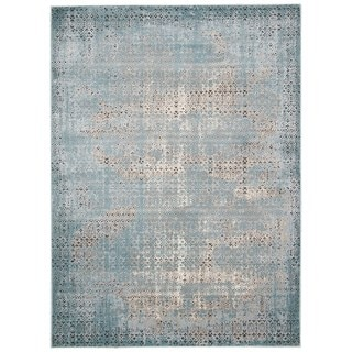 Rug Squared Lakewood Blue Rug (7'10 x 10'6)