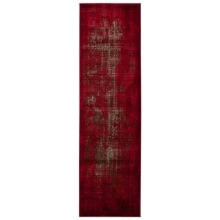 Rug Squared Lakewood Red Rug (2'2 x 7'6)