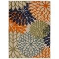 Rug Squared Kona Indoor/Outdoor Multicolor Rug (7'10 x 10'6)