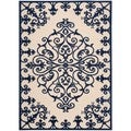 Rug Squared Kona Indoor/Outdoor Navy Rug (3'6 x 5'6)