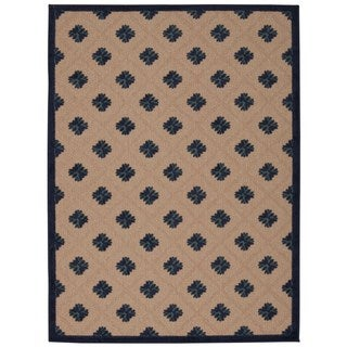 Rug Squared Kona Indoor/Outdoor Navy Rug (5'3 x 7'5)