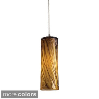 Elk Lighting Maple Satin Nickel 1-light Pendant