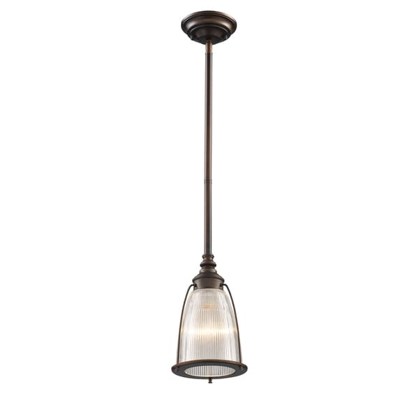 Elk Lighting Halophane Aged Bronze 1-light Mini Pendant 14237439
