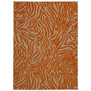 Rug Squared Kona Indoor/Outdoor Orange Rug (5'3 x 7'5)